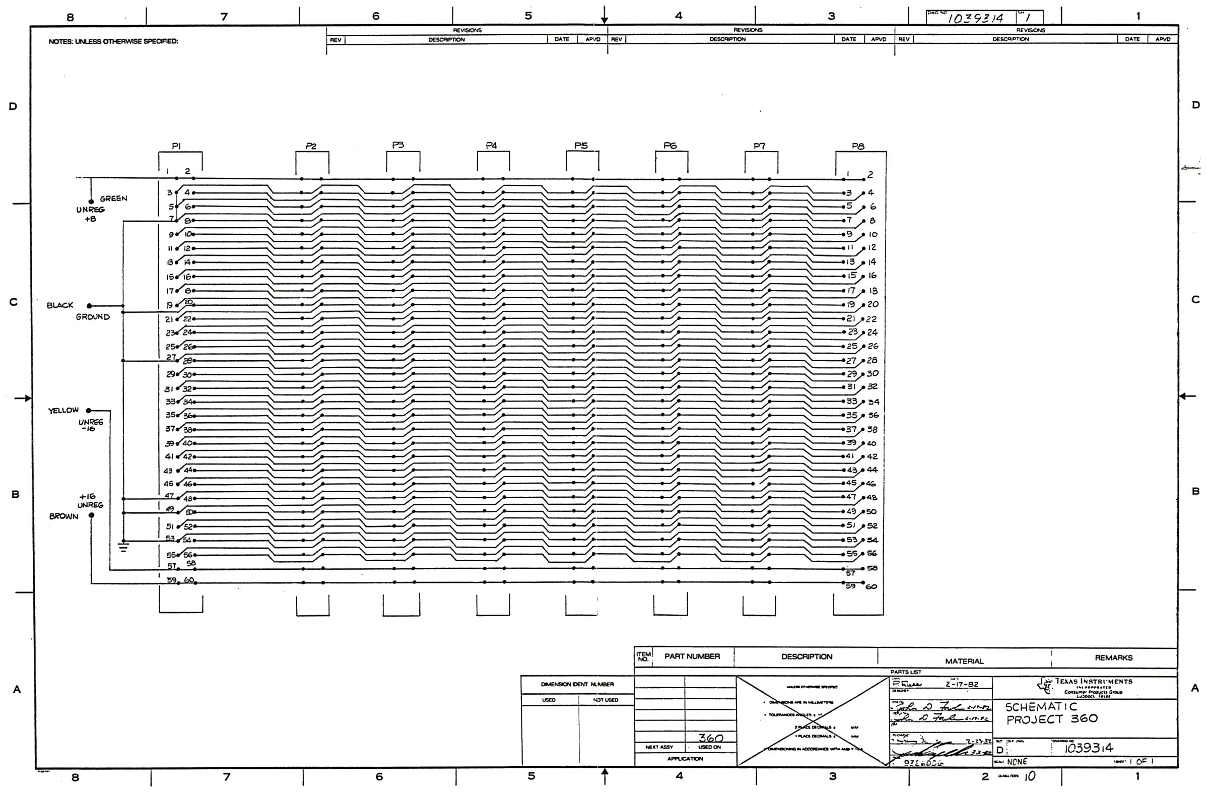 Ti99 Ti 99 4a Hardware Texas Instruments Rs232 Schematic Peb Backplane Page 1