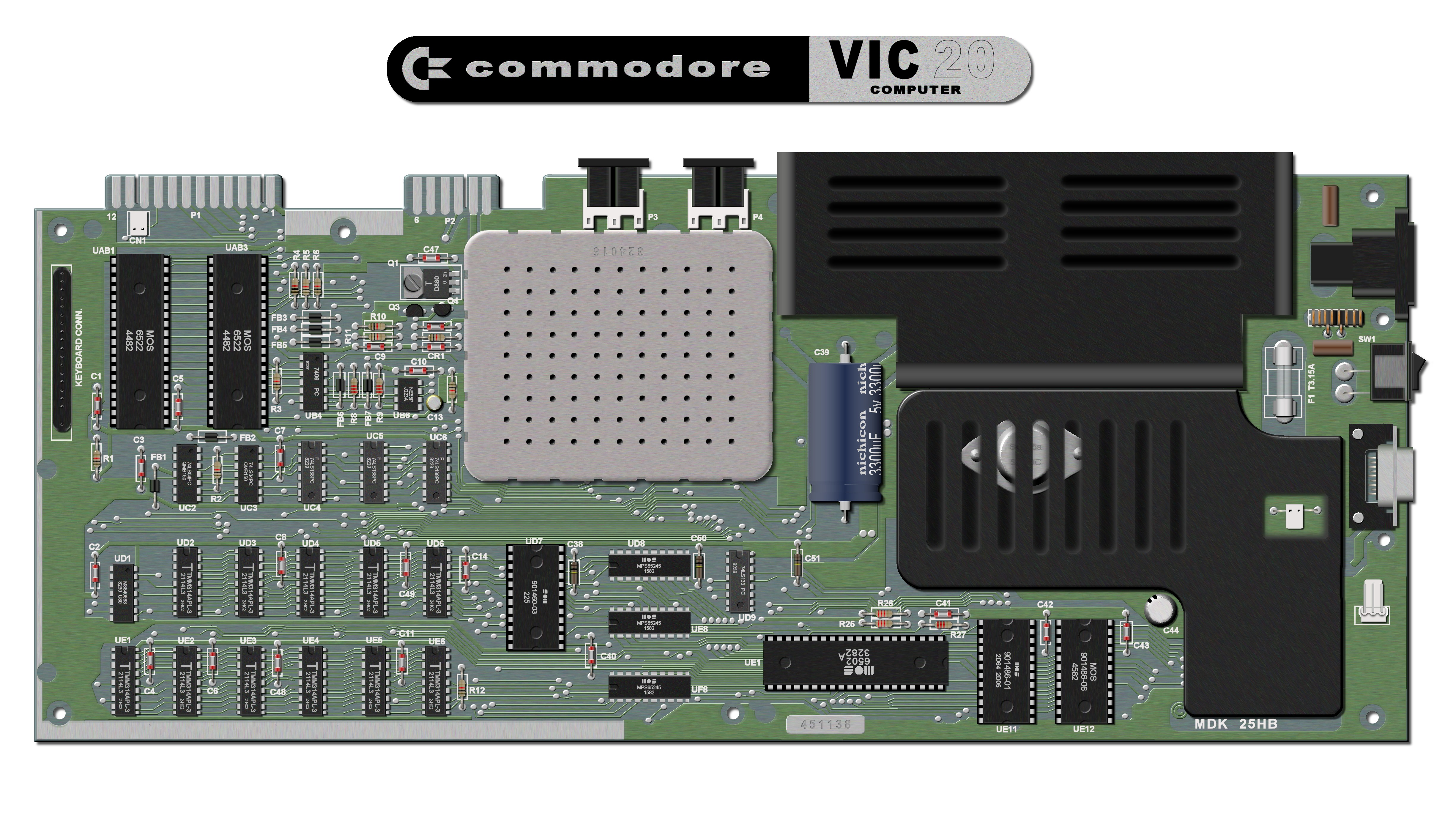 Vic-20 Circuit Board image showing chip layout?